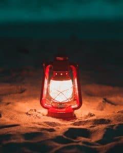 Lampe solaire plage