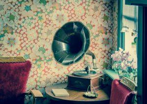 Papier peint vintage fleurs