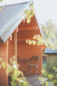 cabane bois jardin