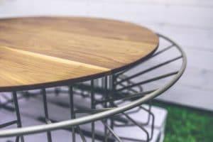 tables basses scandinave bois fer